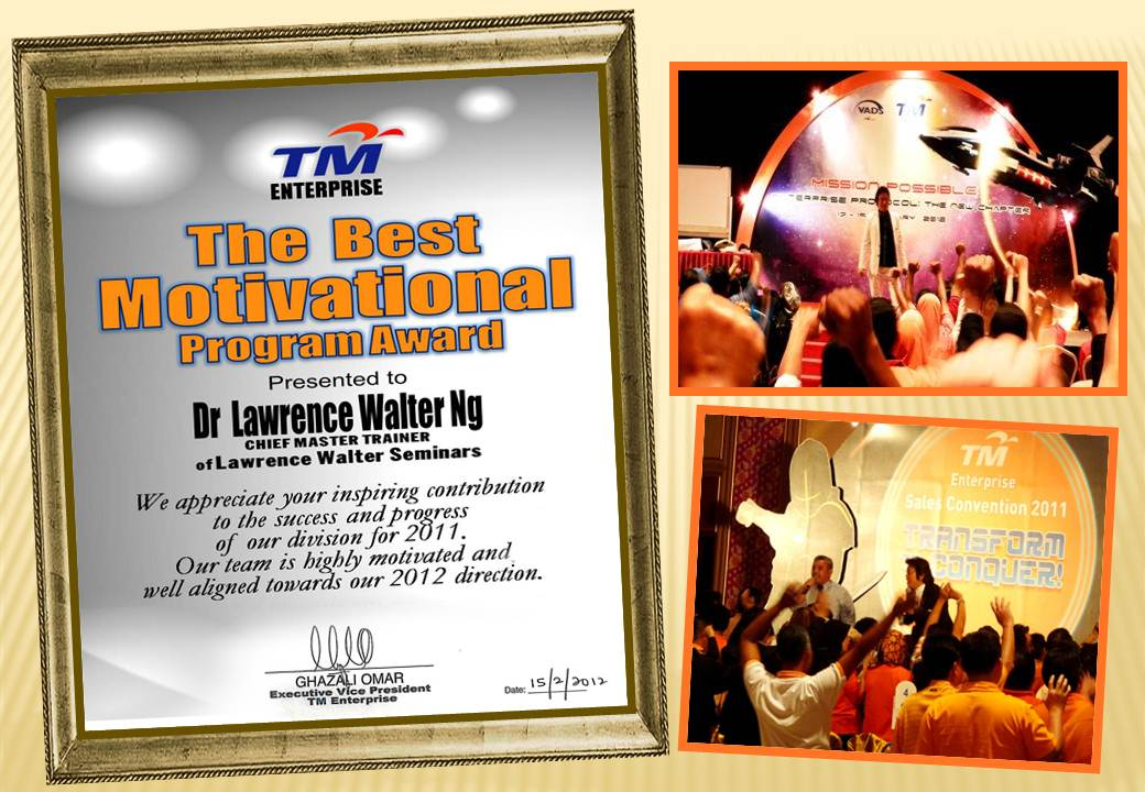 lawrence walter ng motivational speaker
