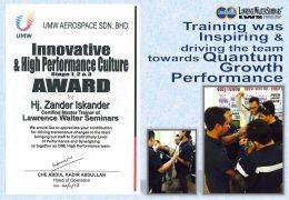 Innovative & High Performance Culture Award