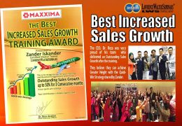 Best Increase Sales Growth Training Award