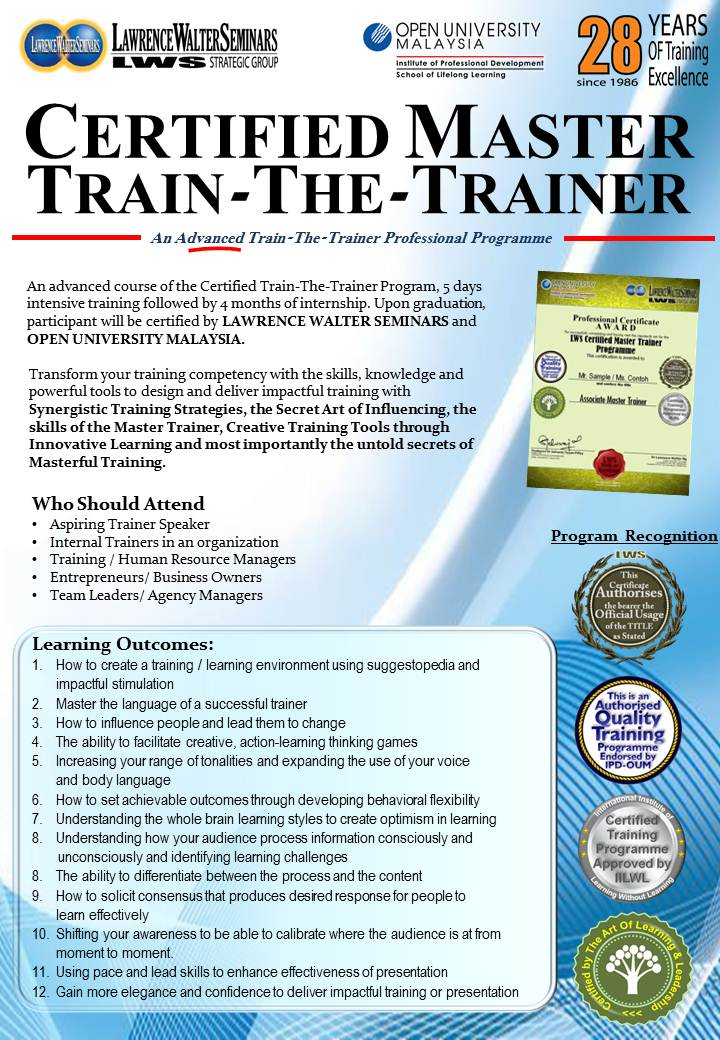 Impressive Motivational Seminar By Awesome Master Trainer Course