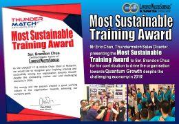 Thundermatch – Most Sustainable Training Award